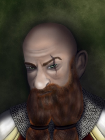 Grimrock, the dwarf paladin